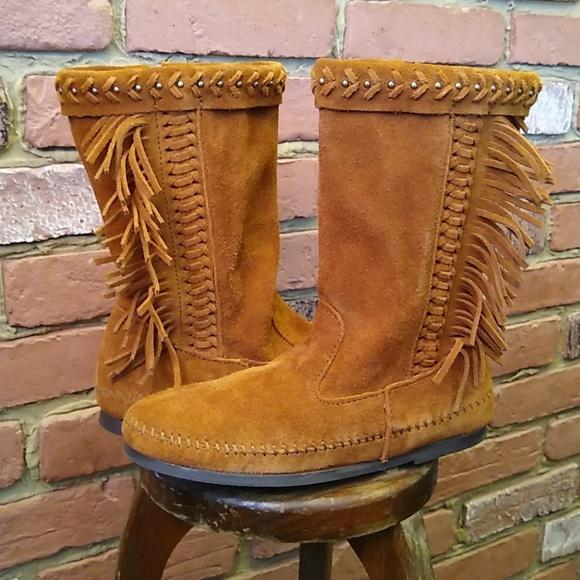 Minnetonka Luna Fringe Boot